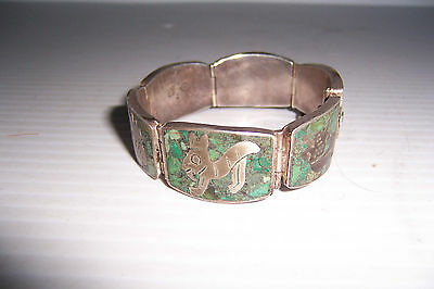 Vintage Mexican Taxco Mexico Miguel Melendez Sterling Silver Bracelet