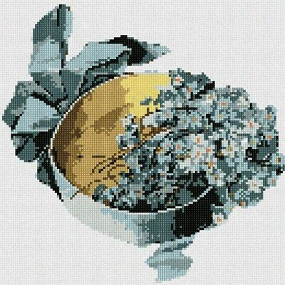 Box Blue Flowers Needlepoint Kit or Canvas (Floral/Nature)