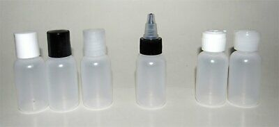 2-oz squeeze bottles plastic small travel containers craft paint cream storage