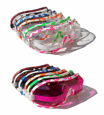 NEW- KRAZI Horse Racing Riding Jockey Goggles | Punch Vented + Funky Trims