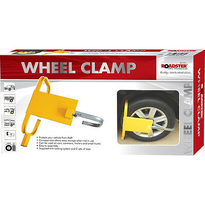 Car Van Wheel Clamp Safety Lock For Caravans Trailer Safe Anti Theft With 2 Keys