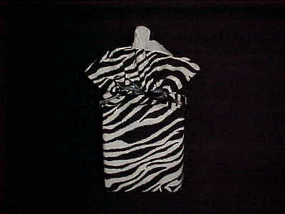 Hide of a Zebra Look on a Tissue Box Cover New Free Ship