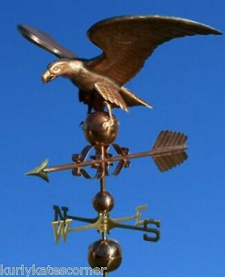 "Huge Copper ""eagle"" Weathervane  Made In Usa #437"
