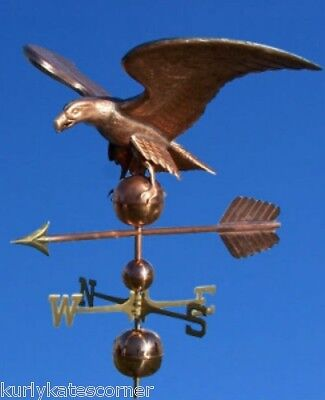 "Huge Copper ""eagle"" Weathervane  Made In Usa #438"