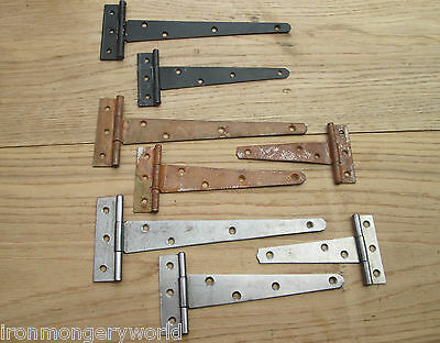 1 X Vintage Finish Door Cabinet Gate Tee T Hinges Restoration