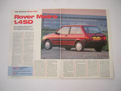 Rover Metro 1.4 SD Road Test from 1992 - Original
