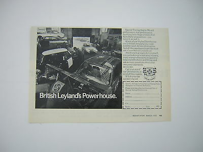 British Leyland Special Tuning Advert from 1972 - Original