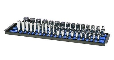 "Ernst 8451 SOCKET BOSS - 3 18"" Rail Socket Tray Organizer System - Blue"