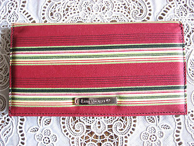 NEW Longaberger Holiday Stripe Fabric Duplicate Checkbook Cover w/FREE SHIPPING!
