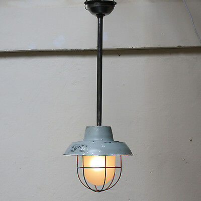 Vintage Caged Ceiling Lamp