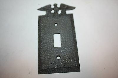 Vintage Single Cast Aluminum Eagle Switch Plate Cover Hammered Finish • CAD $23.62