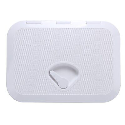 Amarine-made WHITE ACCESS HATCH & LID 270 x 375mm - Boat/Marine/Caravan/RV