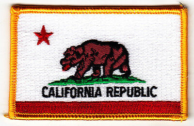 CALIFORNIA STATE FLAG/Iron On Embroidered Patch /Flag of California Republic