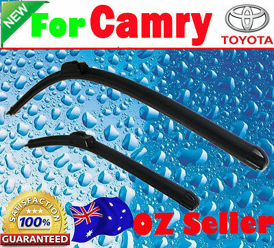 Pair Frameless Windscreen Wiper Blades For TOYOTA CAMRY 2006 - 2012