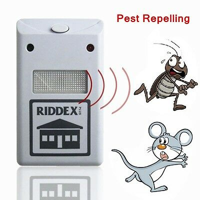 Home Garden Riddex Plus Electronic Pest Rodent Control Repeller Useful 220V new