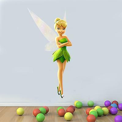 Wall art Graphic Tinkerbell Peter Pan Character Printed Vinyl Sticker Decal