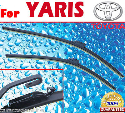 Pair Frameless Windscreen Wiper Blades For TOYOTA Yaris 2005 - 2011