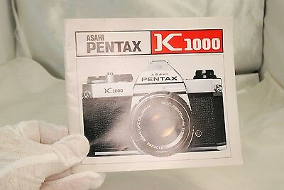 Asahi Pentax K1000 Camera Instruction Manual 7212060