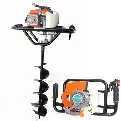 """63cc One Man Gas 2.5HP Post Fence Hole Earth Auger Machine w/6"""" x 33"""" Drill Bit"""
