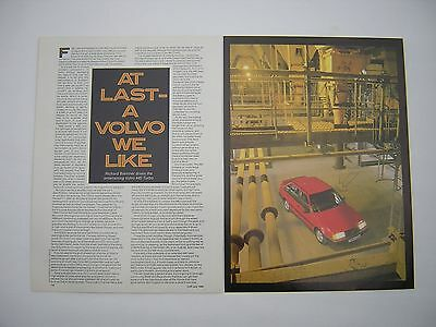 Volvo 440 Turbo Road Test article from 1989 - Original