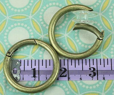 37mm Gate Rings (Pack of 10) Antique Bronze - Handbag Hardware/Snap O ring