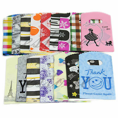 50pcs Wholesale Lot 15X9CM Pretty Random Color Plastic Gift Bag Shopping Bag