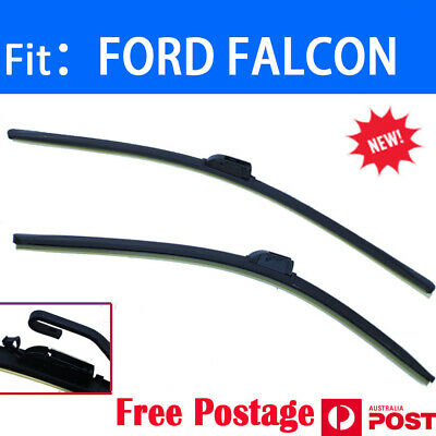 Pair Frameless Windscreen Wiper Blades For FORD FALCON BA BF 2002 - 2008