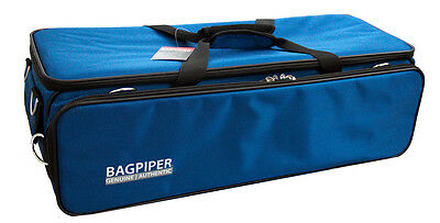 Blue Bagpiper Case Highland Bagpipe Uilleann Small pipes Black Chanter Protector