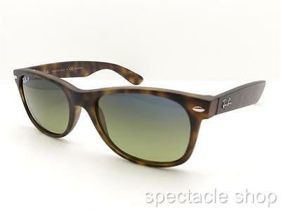 Ray Ban New Wayfarer 2132 894/76 Matte Havana Gradient Polarized Sunglasses