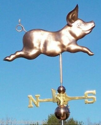 Wonderful Large Running Pig   Weathervane Made In Usa #440
