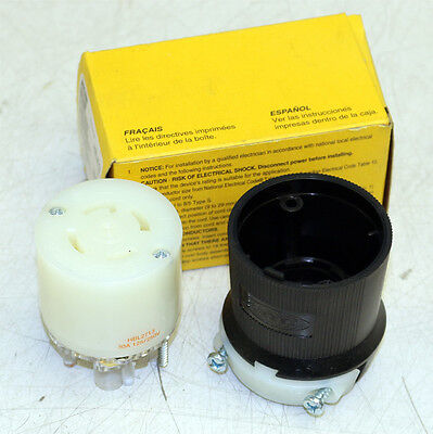 Hubbell HBL2713 Insulgrip Connector Body Twist Lock Receptacle 30A 125/250V New