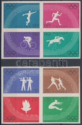 Poland stamp Summer Olympics MNH Imperforated 1960 Mi 1166-1173 WS147078