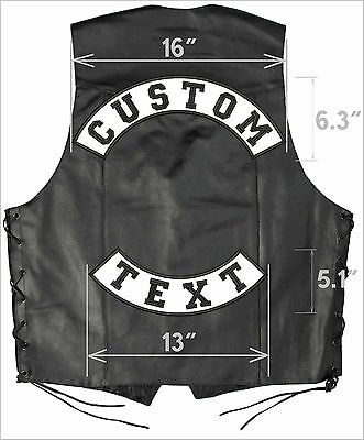 "Best CUSTOM ROCKER SET Motorcycle Patch Set: Top 16"" + Bottom 13"" large patches"