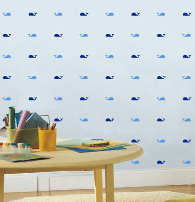 Set of 32 Pcs Whale Wall Stickers Nursery Kids Baby Decor Art Removable Decal