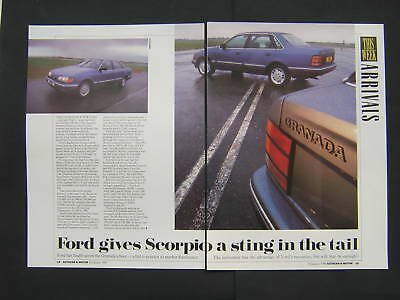Ford Granada Scorpio First Look Article from 1990 - Original - 2.0 2.9