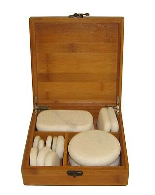 MassageMaster COLD STONE MASSAGE SET, 14 Marble Stones .. (Hot Stone)