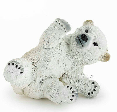 FREE SHIPPING | Papo 50143 Polar Bear Cub Playing Model Replica - New in Package