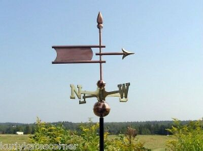 """Copper   """"Arrow Banner """" Weathervane  Made In Usa #335"""
