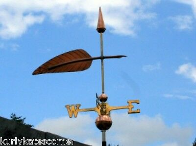 "Copper   ""feather "" Weathervane  Made In Usa #386"