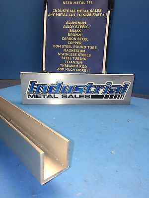 "1-1/2"" x 1-1/2"" x 24""-Long x 1/8"" Thick 6063 T52 Aluminum Channel"