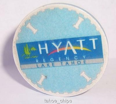 HYATT REGENCY CASINO CHIPS BLUE TABLE 1 ROULETTE CHIP LAKE TAHOE NEVADA