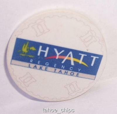 HYATT REGENCY CASINO CHIPS WHITE TABLE II ROULETTE CHIP LAKE TAHOE NEVADA