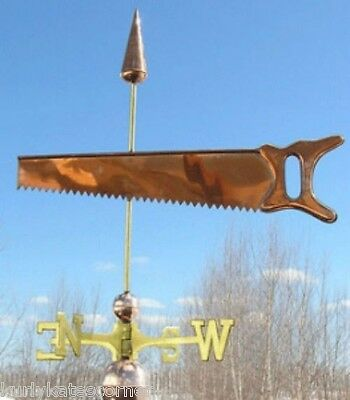 "Copper   "" Saw "" Weathervane  Made In Usa #160"