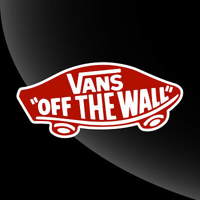 Vans Off The Wall Decal Sticker - 16 COLOR OPTIONS - 7 SIZES