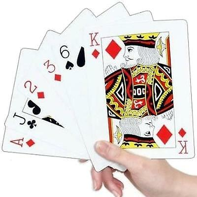 Jumbo Extra Large Giant Playing Cards Bridge Poker Whist Games Gambling Gaming