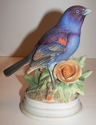 Napco Blue Grosbeak Bird Figure