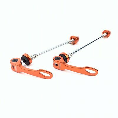 Circus Monkey QR3 Road Bike Bicycle Quick Release Skewers F100 / R130mm - Orange