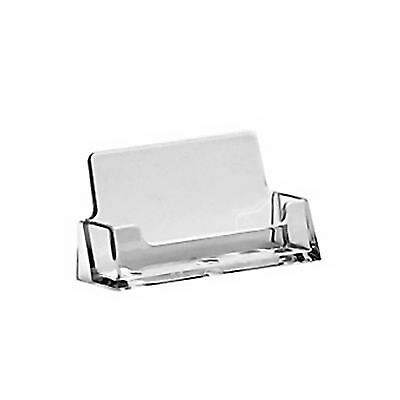 2 x Acrylic Business Card Holders Shop Counter Retail Display Stands Dispenser