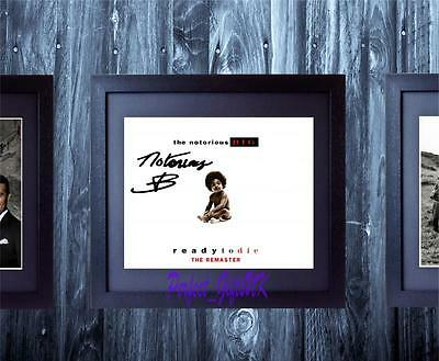 Notorious BIG Ready To Die SIGNED AUTOGRAPHED 10X8 FRAMED PRE-PRINT PHOTO Biggie