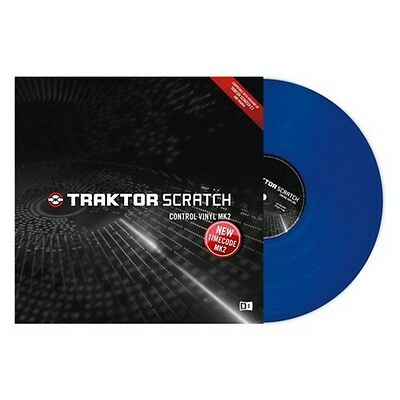 New Native Instruments Traktor Scratch Control Timecode Vinyl MK2 Blue SINGLE